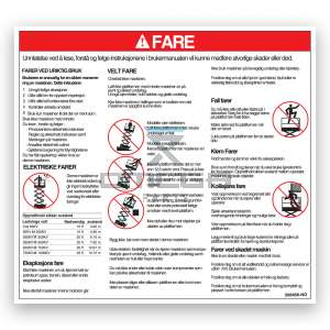 GMG  268466-NO GMG Decal danger hazards NO