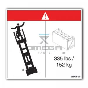GMG  268479-EU GMG Decal tip-over hazard and batteries EU