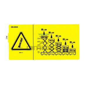 Genie Industries  82788 Decal - max load