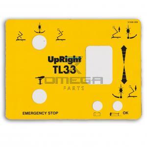 UpRight / Snorkel 057400-000 Decal - upper control - TL33