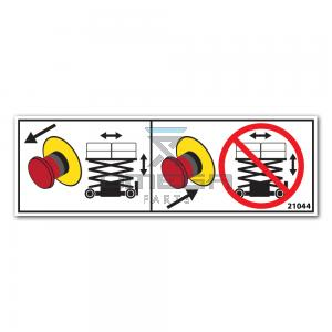 GMG  21044 Decal - Emergency stop Instruction
