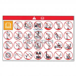GMG  21030 Decal - general warnings - via pictorial
