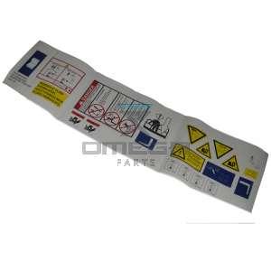 UpRight / Snorkel 505004-000 Decal label kit