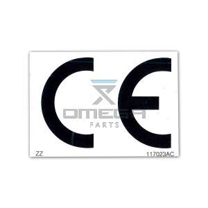 Skyjack  117023 Decal - Ce Approval Pictorial
