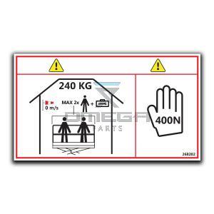 GMG  268202 Decal SWL - 240kg - indoor