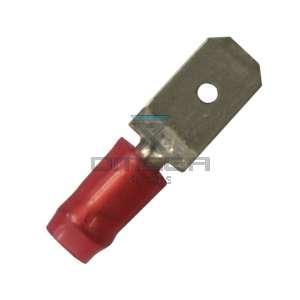 AMP  140896-2 Crimp terminal Tong 6,3 mm - RED