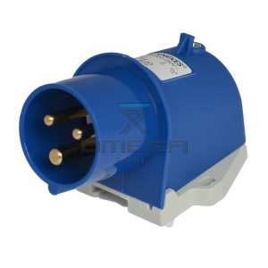 Omega Infra BV 302.350 CEE form Blue - connector  - 220Vac 16A, 3pole