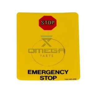 UpRight / Snorkel 100340-002 Decal upper control SB80 E-stop