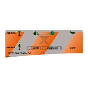 UpRight / Snorkel 100340-008 Decal upper control SB80 Aux