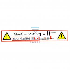 UpRight / Snorkel 508505-000 Decal SWL 215 kg