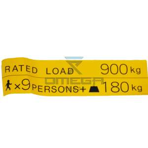 Aichi  49404729 Decal rated load