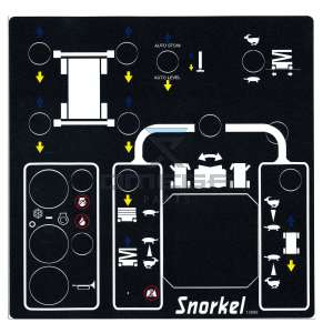 UpRight / Snorkel 12689 Decal uper controlbox