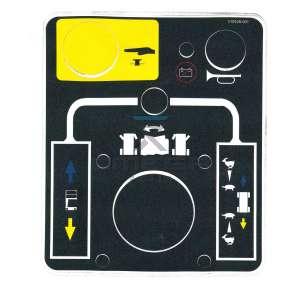 UpRight / Snorkel 510428-001 Decal upper controls