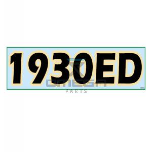 GMG  830126 Decal 1930-ED 570x130mm