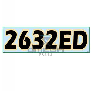 GMG  830128 Decal 2632-ED 635x140mm