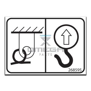 GMG  268595 Decal - lifting point - tie down