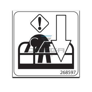GMG  268597 Decal - Symbol emer down