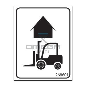 GMG  268601 Decal - fork lift here