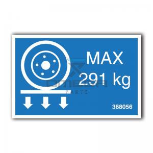 GMG  368056 GMG 1330ED - max wheel load decal