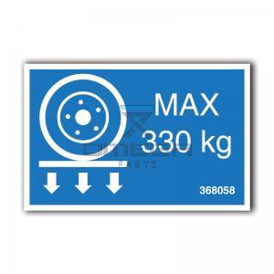 GMG  368058 GMG 1530ED - max wheel load decal