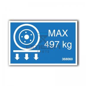 GMG  368060 GMG 1930ED - max wheel load decal
