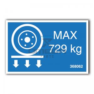GMG  368062 GMG 2632ED - max wheel load decal