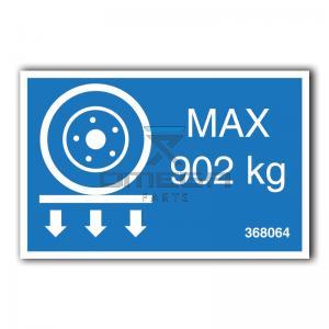 GMG  368064 GMG 2646ED - max wheel load decal