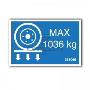GMG  368066 GMG 3346ED - max wheel load decal