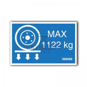 GMG  368068 GMG 4046ED - max wheel load decal