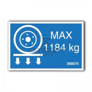 GMG  368070 GMG 4646ED - max wheel load decal