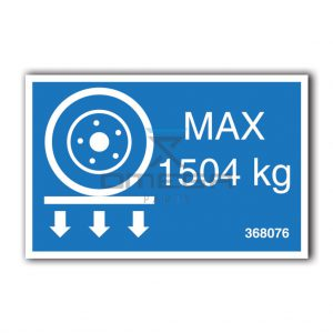 GMG  368076 GMG 4069RT - max wheel load decal