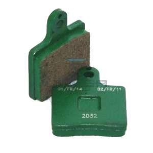 Keijzer Racing Parts  402924 set remblokken achter VEN05 (groen)