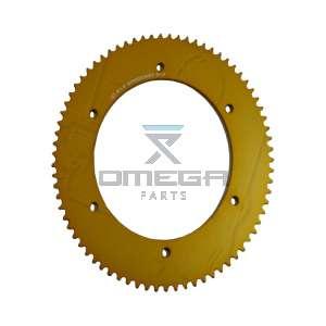 Keijzer Racing Parts  402978 Tandwiel 219 72T goud