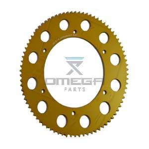 Keijzer Racing Parts  403010 Tandwiel 219 87T goud