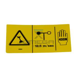 Genie Industries  82604 Decal - windspeed - manual force - tilt warning