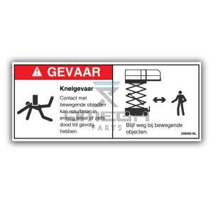 GMG  268480-NL Decal crushing hazard NL