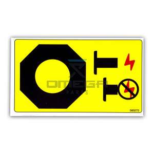UpRight / Snorkel 560272 Decal emergency stop