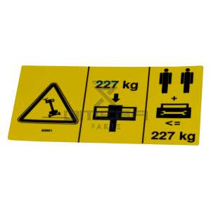 Genie Industries  82601 Decal - swl 227 kg - 2 persons max. - tilt warning