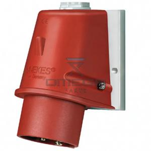 OMEGA 442622 Wall mounted inlet 5P Industrial Power Plug - 16A