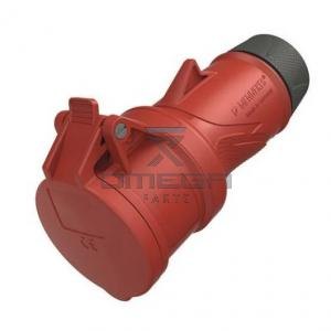 OMEGA 442624 Cable Mount 5P Industrial Power Socket - RED -  16A