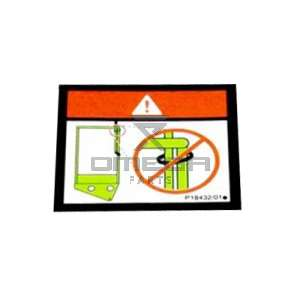 NiftyLift  P18432 label - cage gate warning swing - universal