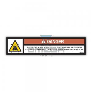 NiftyLift  P18848 label - cage overload warning - UK