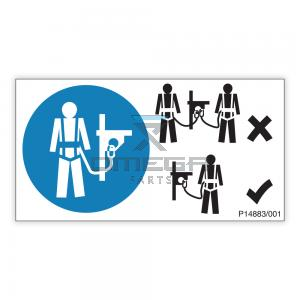 NiftyLift  P14883 decal - harness point