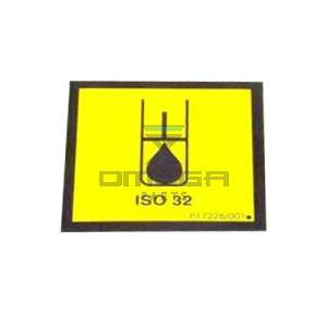 NiftyLift  P17226 label - hydraulic oil iso 32 - universal
