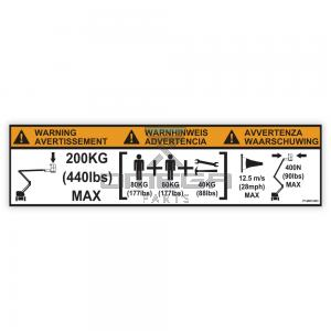 NiftyLift  P14801 label - swl 200 kg - universal