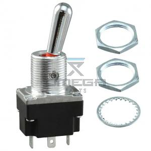 OMEGA  469542 Toggle switch - soldering terminal - 3 pos - all fixed - SPDT