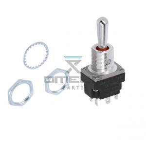 OMEGA 469554 Toggle switch - soldering terminal - 3 pos - spring return - DPDT