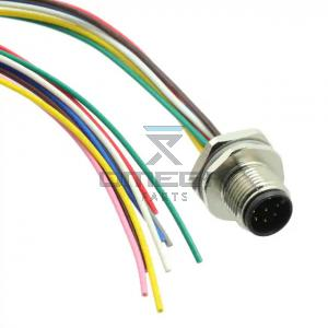 OMEGA  469986 M12 flange mount - outer thread - 8-pos - 200mm wires