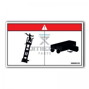 GMG  268482-EU Decal tip-over hazard chassis EU