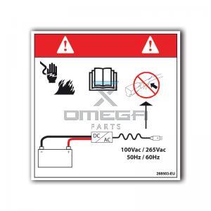 GMG  268503-EU GMG Decal electrocution/fire hazard EU